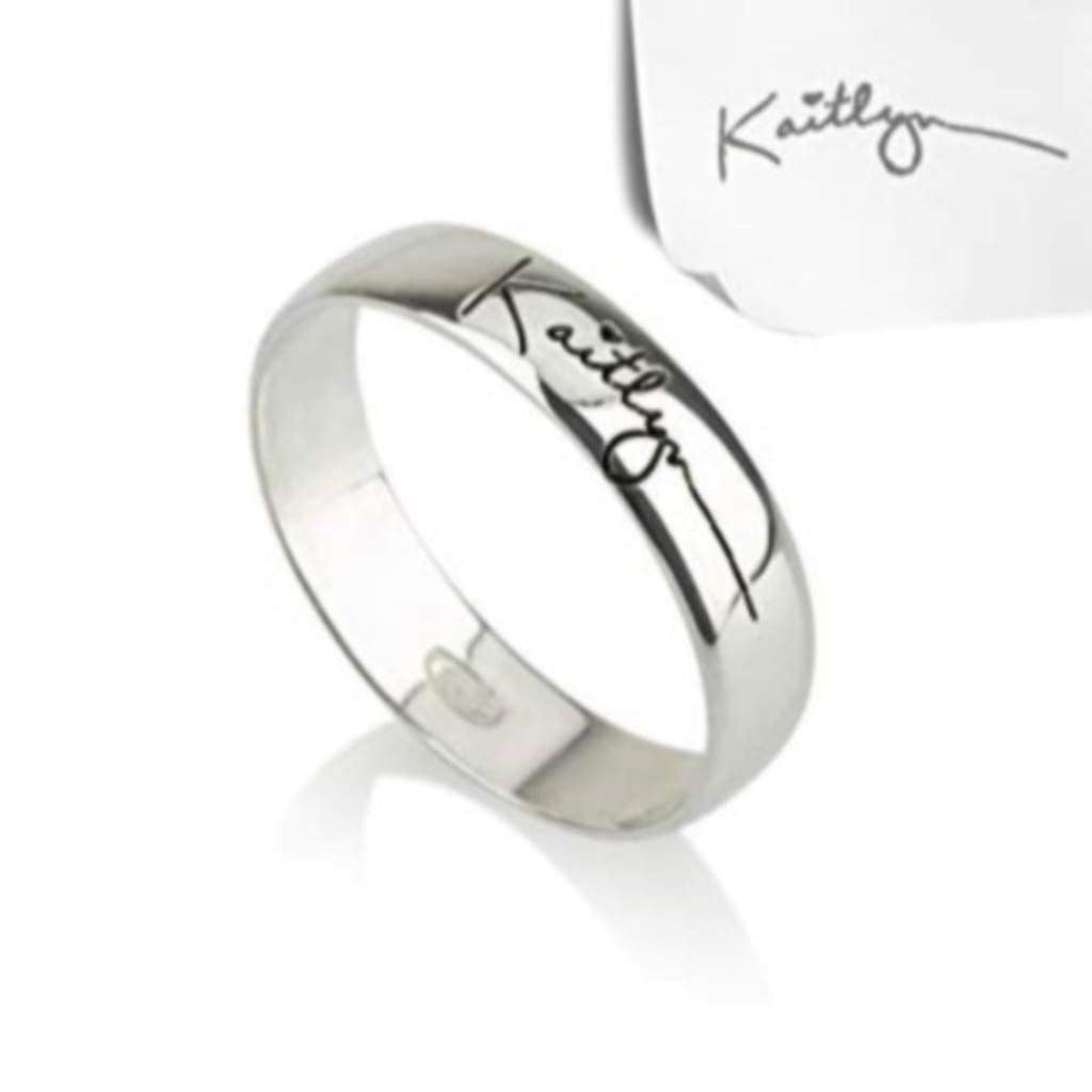 Sterling Silver Unisex Signed Rings Gents Rings