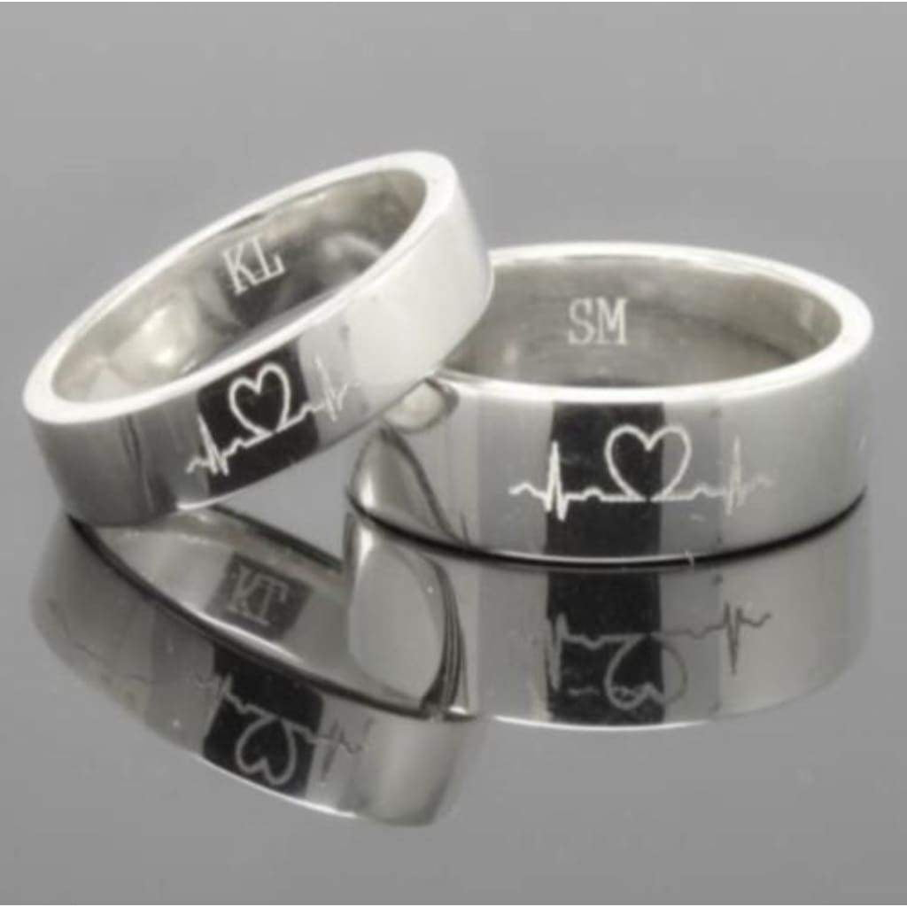 Sterling Silver Unisex Wedding Rings Gents Rings