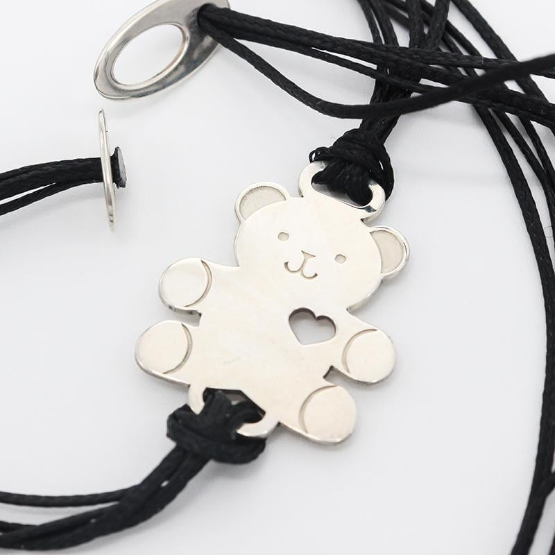 Teddy Bear Open Heart Charm Bracelet