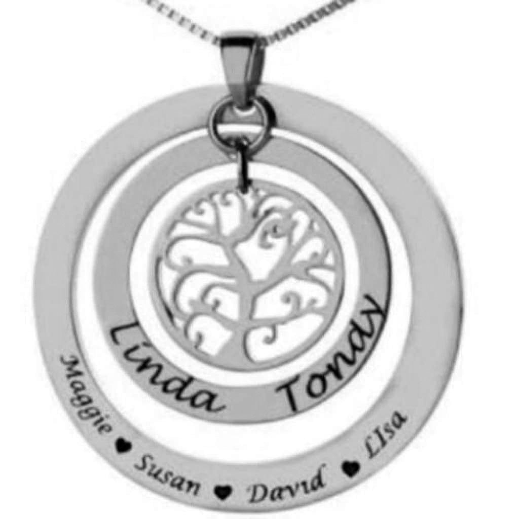 Tree of Life Circle Pendant & Chain