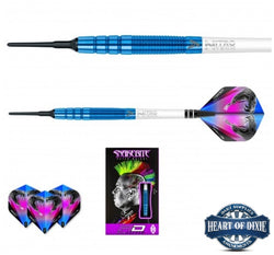Red Dragon Peter Wright Snakebite PL15 Blue Soft Tip Darts
