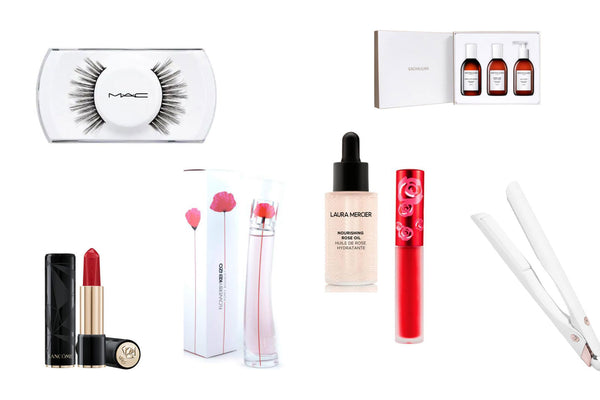 Collage of Beauty Gift Ideas for Valentine's Day