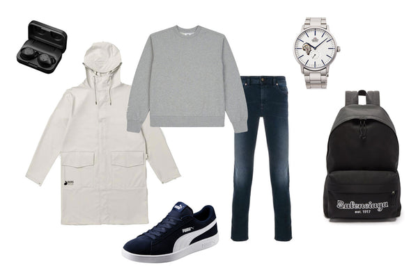 Collage of Menswear Gift Ideas for Valentine's Day