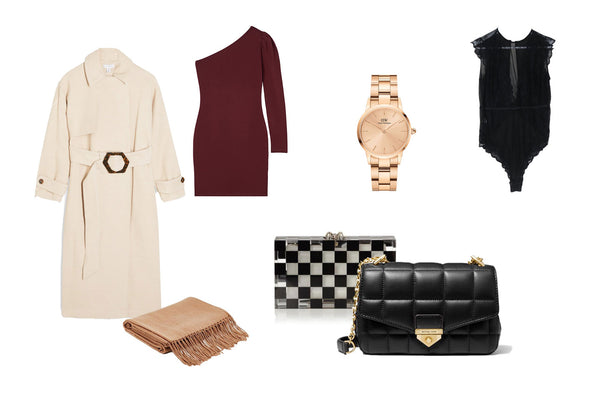 Collage of Womenswear Gift Ideas for Valentine's Day