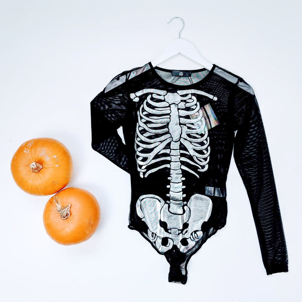 NEW* ~ MISSGUIDED HALLOWEEN Skeleton Bodysuit (RRP £15) UK SIZES 8,12,14,16u2702ufe0f - Ebloggers