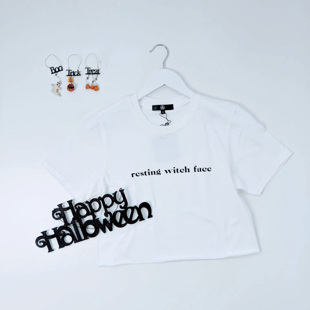 NEW* ~ MISSGUIDED HALLOWEEN 'Resting Witch Face' Tee T-Shirt (RRP £12) UK SIZES S, M, Lu2702ufe0f - Ebloggers