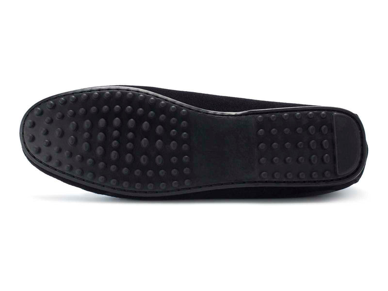 Black Suede Flat Sole