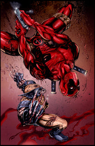 Deadpool vs Wolverine Print