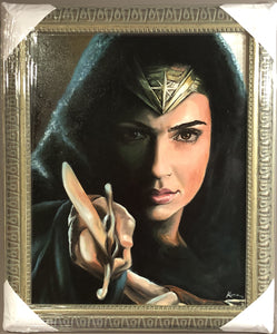 "Original 1/1 Oil on Canvas Painting ""Wonder Woman"""