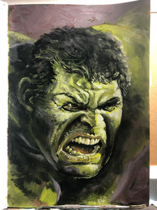 "Original 1/1 Oil on Paper Painting ""Hulk"""
