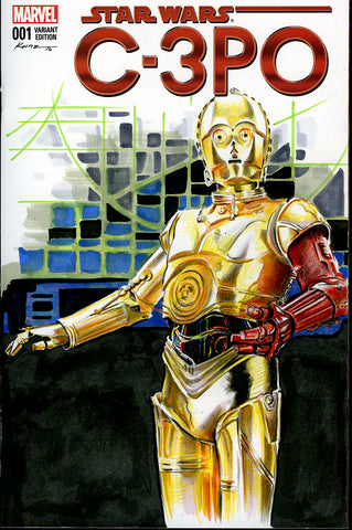 "Original 1/1 Blank Cover Sketch ""3PO"""