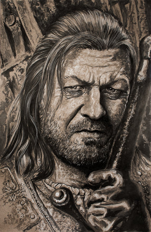 "Original 1/1 ""Ned Stark"" 11x17 on Toned Paper"