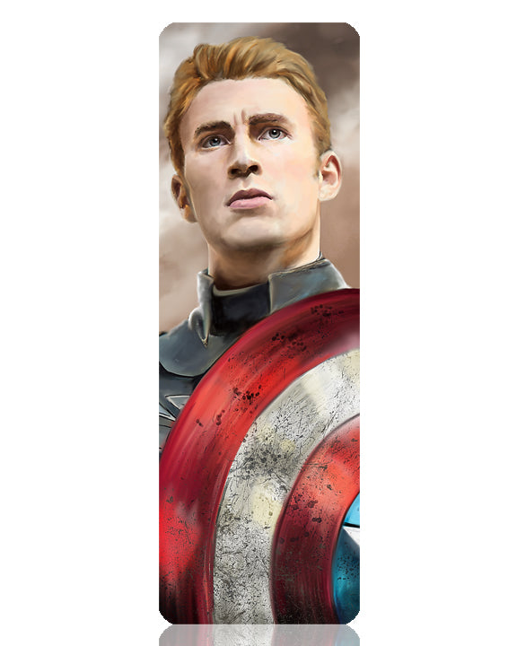 Captain America Metal Bookmark