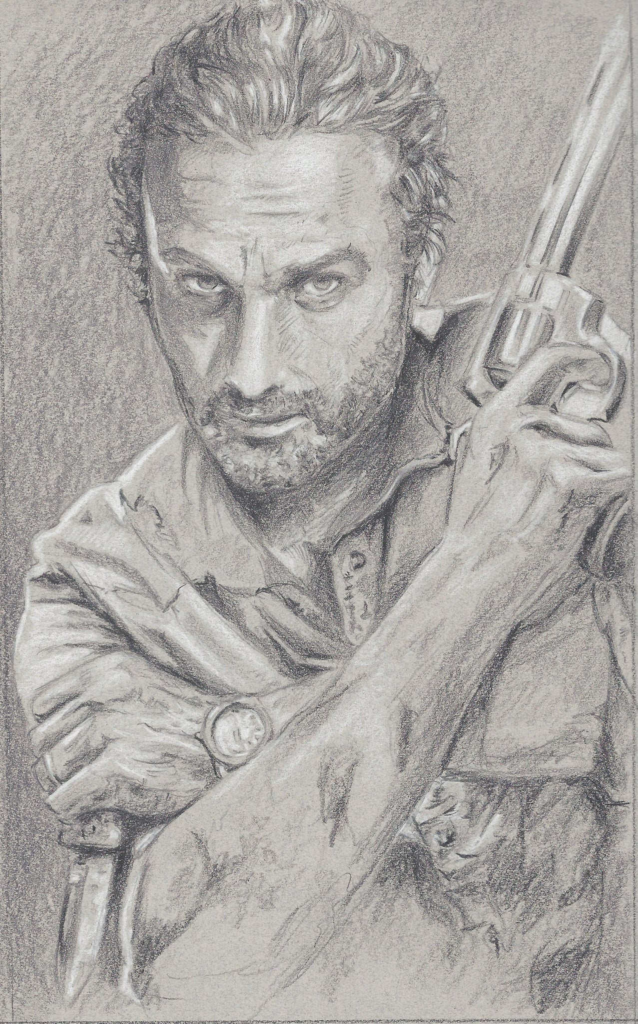"Original 1/1 Preliminary Sketch ""Rick"""