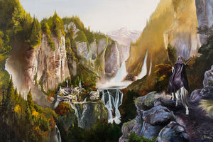"Original 1/1 Oil on Canvas Painting or Limited Edition Print ""Rivendell"""