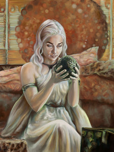"Limited Edition Print on Canvas ""Mother of Dragons"""