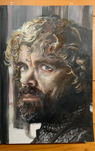 "Original 1/1 Oil on Paper Painting ""Tyrion"""