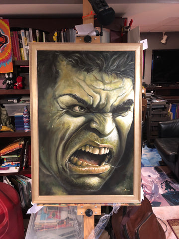 "Original 1/1 Oil on Canvas Painting ""Hulk II"""
