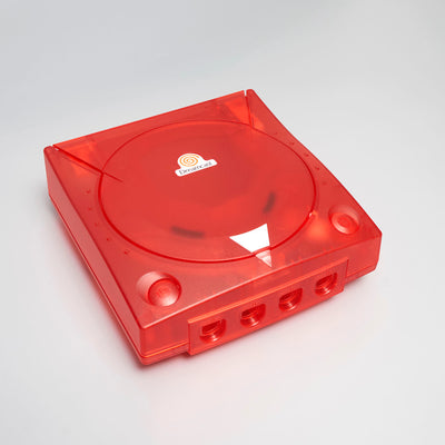 CLEAR RED DREAMCAST REPLACEMENT SHELL