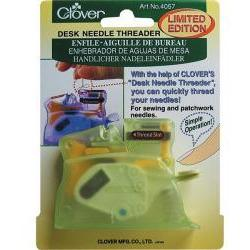 Desk Needle Threader Green