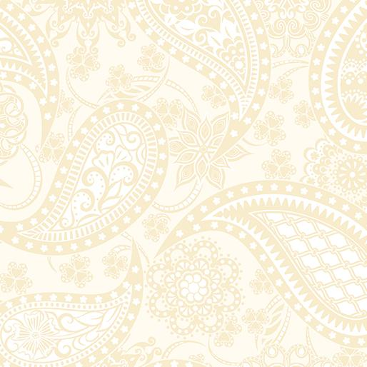 WIDE PAISLEY CREAM