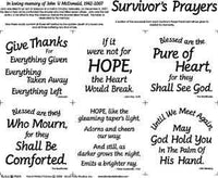 SURVIVORS PRAYER BLACK/WHITE