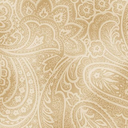 "RADIANT PAISLEY 108"" WHEAT"