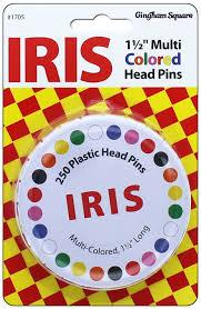 IRIS MULTI-COLOR HEAD PIN