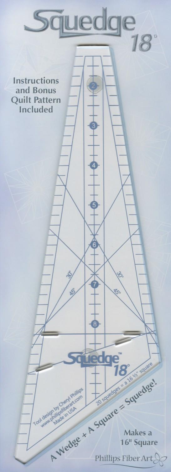 18 DEGREE S QUEDGE RULER