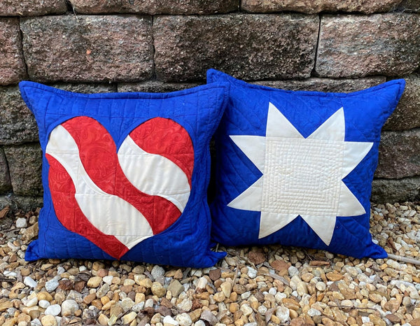 HEARTS AND STARS PILLOW