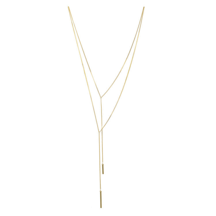 A.V. Max Double Y-Bar Lariat Necklace