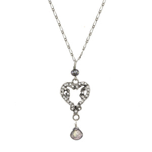A.V. Max Vintage Heart Necklace