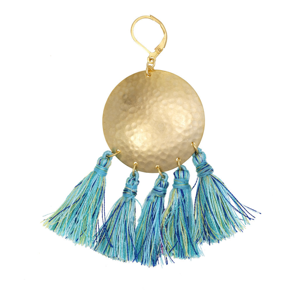 A.V. Max Hammered Tassel Earrings