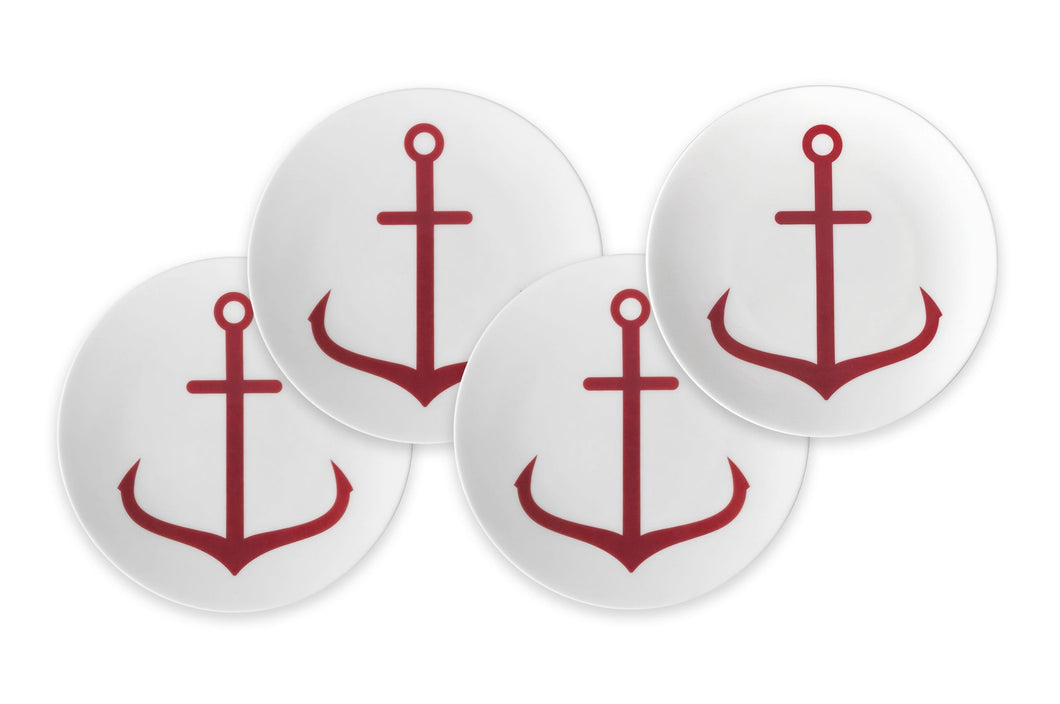 Anchor Red Canapé Plate