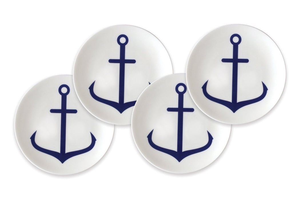 Anchor Blue Canapé Plate