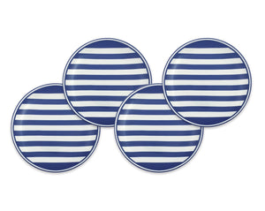 Beach Towel Stripe Blue Canapé Plate