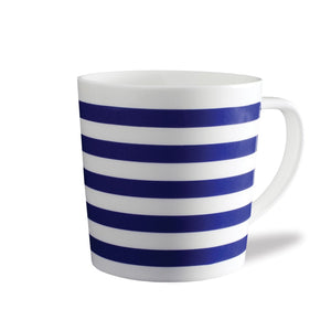 Beach Towel Stripe Blue 14oz Wide Mug