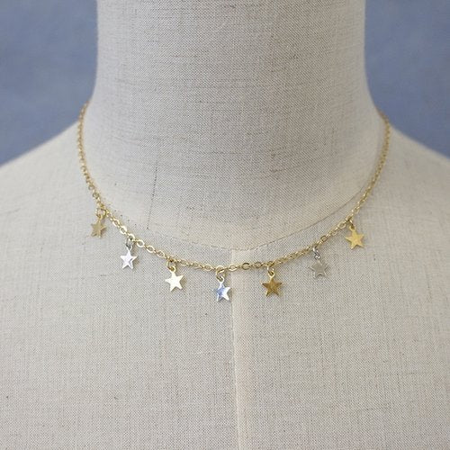 A.V. Max Two-Tone Baby Star Necklace