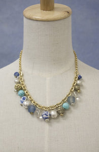 A.V. Max Bauble Seaglass Chunky Charm Necklace