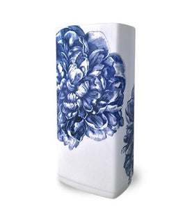 Peony Blue 8.5 in Rectangular Vase