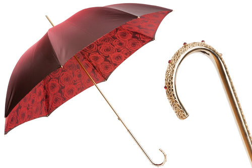 Pasotti Umbrella - Red Roses - Women's