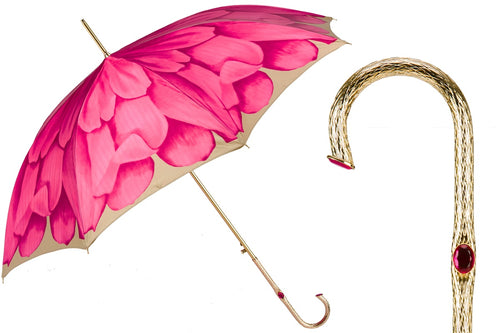 Pasotti Umbrella - Fuchsia Dahlia - Womens