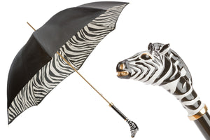 Pasotti Umbrella - Enameled Zebra - Womens
