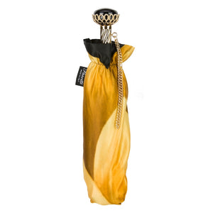 Pasotti Umbrella - Gold Dahlia Folding - Womens