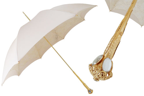 Pasotti Umbrella - Ivory Parasol - Womens