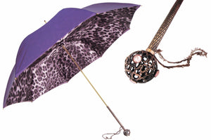 Pasotti Umbrella - Purple Leopard - Womens