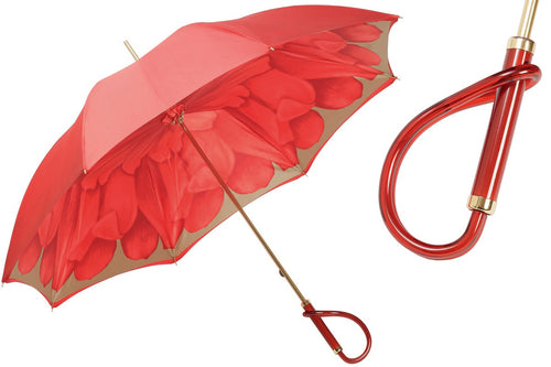 Pasotti Umbrella - Red Dahlia - Womens