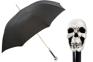 Pasotti Umbrella - Silver Skull - Mens