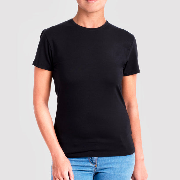 Womens Bamboo Crew  Neck T-shirt in black from Eco Staples