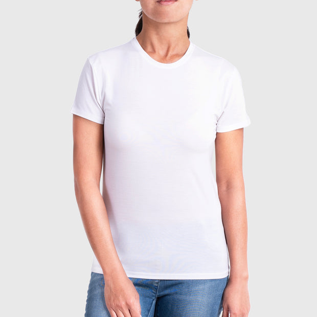 Womens Bamboo Crew  Neck T-shirt in white from Eco Staples